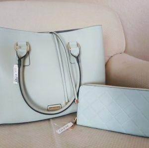Aldo BNWT Blue Handbag Purse Wallet Set